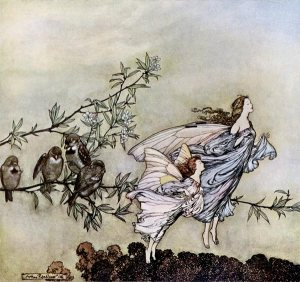 From Peter Pan : The Fairies have their tiffs with the birds.