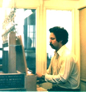 Carl playing carillon at Berkeley.